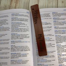 IMG 1297 e1540545437564 - Personalised My Family Bookmark Tan Leather Genuine Gift