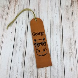 Male Hippo Bookmark Leather e1538822594868 - Personalised Genuine Leather Male Hippo Bookmark