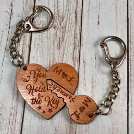 IMG 1631 - Personalised Initials Key & Heart Keyring Gift