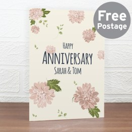 GC00527 - Personalised Rose Gold Floral Card