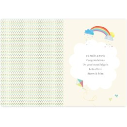 GC00541 2 Personalised Hessian Elephant Twins Card - Personalised Hessian Elephant Twins Card