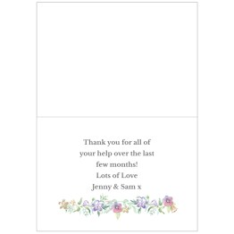 GC00589 3 - Personalised Maid of Honour 'Floral Watercolour Wedding' Card