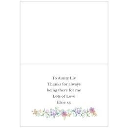 GC00591 4 - Personalised Godmother 'Floral Watercolour' Card
