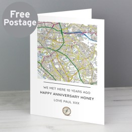 GC00593 - Personalised Present Day Map Compass Card