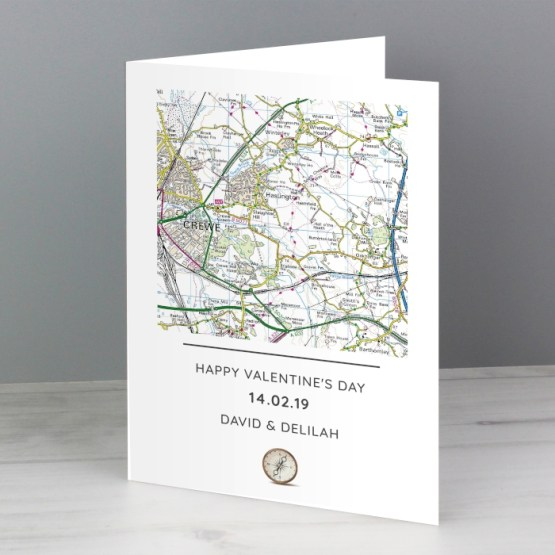 GC00593 4 - Personalised Present Day Map Compass Card