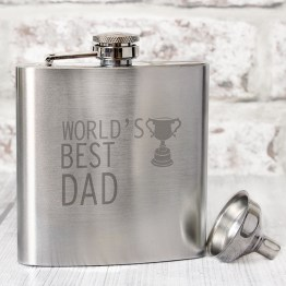 NP0102E22 - Worlds Best Dad Hip Flask