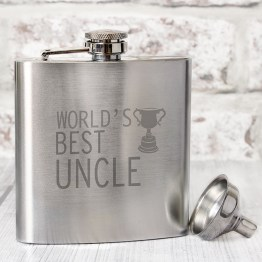 NP0102E24 - Worlds Best Uncle Hip Flask