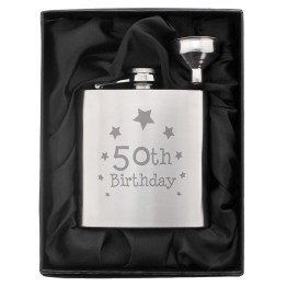 NP0102E40 1 - 50th Birthday Hip Flask