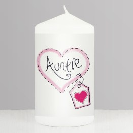NP0409A60 - Auntie Heart Stitch Candle