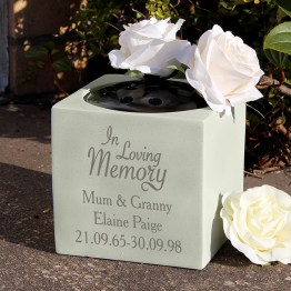 P011314 2 - Personalised In Loving Memory Memorial Vase