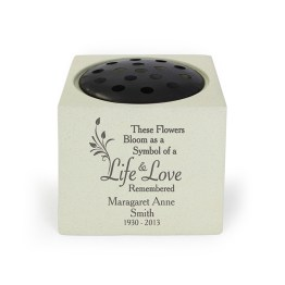 P011315 - Personalised Life & Love Memorial Vase