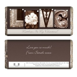 P0515B74 1 Personalised Affection Art Love Milk Chocolate Bar - Personalised Affection Art Love Milk Chocolate Bar