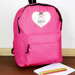 P0710H58 2 - Personalised Fairy Princess Pink Backpack