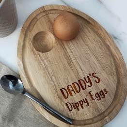 Daddys dippy eggs Oval Breakfast board for there eggs and toast