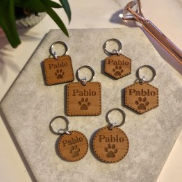 Mix of Pet Tags - Personalised Wooden Pet ID Tag Gift