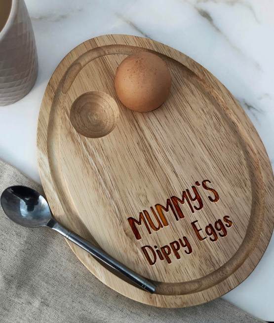 mummy mothers mum day dippy eggs Oval Breakfast board for there eggs and toast