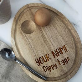personalised fathers day birthday - engraved laser wooden Oval Egg Breakfast Board