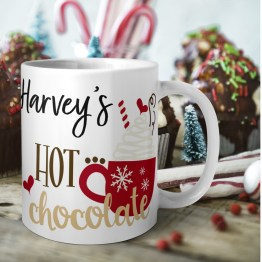 Personalised Christmas Hot Chocolate Mug Durham Printing - Personalised Hot Chocolate Mug