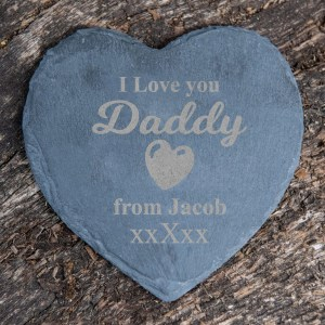 Personalised Daddy I love you slate coaster