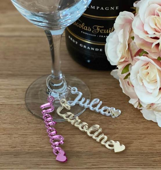 Whether you're celebrating a birthday, hen night, wedding or dinner party, delight your guests with a personal glass charm keepsake reminder of your party. It makes perfect conversation starters amongst your guests, showing off your attention to detail.