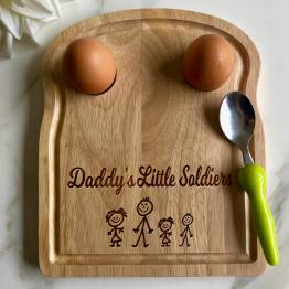 Daddys Little Soldiers Apollo Egg Toast Board 1 - Daddy Little Soldier Egg Breakfast Board