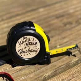 Worlds best Husband Tape Measure - World's Best Husband Tape Measure