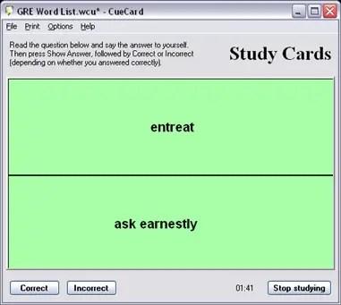 Free Flash Card Software CueCard