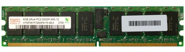 Hymp351p72amp4-y5 Ab- Hynix 4gb Ddr2 Pc5300 Memory