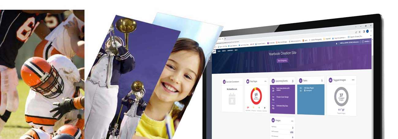 school yearbook online design