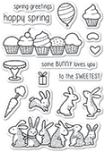 CL5220 Spring Bunnies clear stamp set