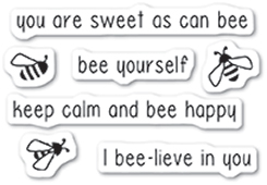 CL5222 Bee Yourself clear stamp set