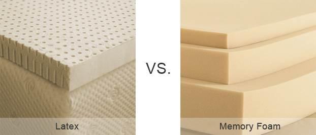 Latex Vs Memory Foam Mattresses