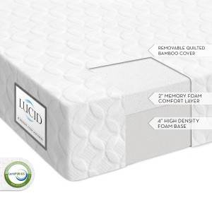 Lucid 6 Inch Memory Foam Mattress Features Specifications