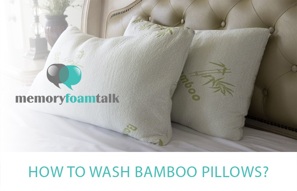 how to wash bamboo pillows memory