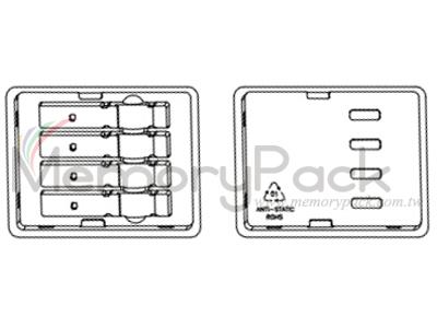 4ct QSFP+ QSFP28 XFP clamshell tray packaging plastic box