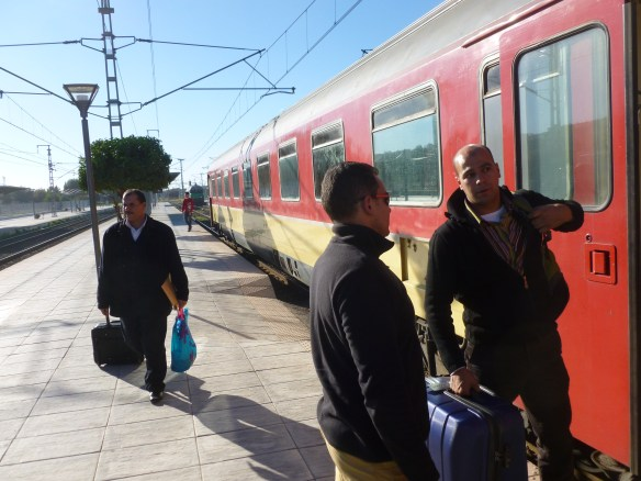 Arriving in Fez, Morocco by train from Tangier.