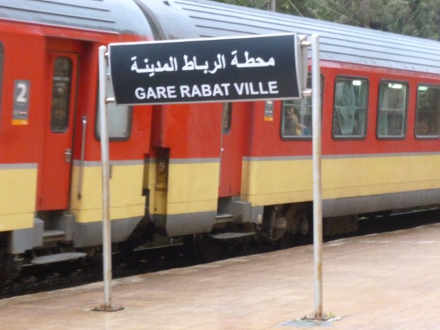 The arrival area at Gare Rabat Ville.