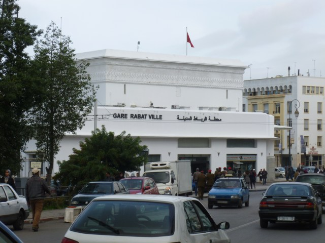 Gare Rabat Ville from the street.