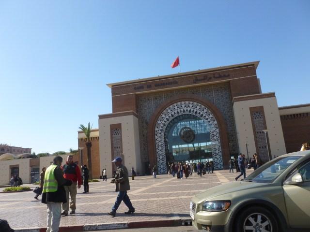 The front of Gare de Marrakech