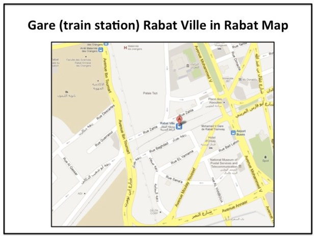 How to get the train from Rabat to Casablanca to find Rick!