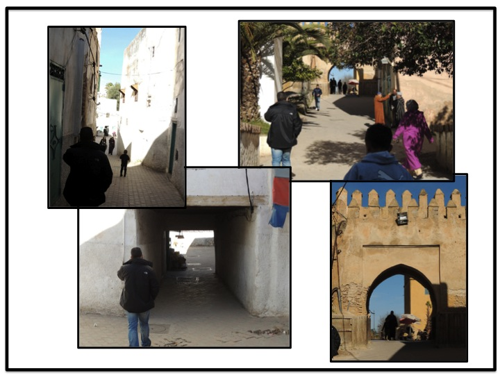 After following Michell around through alleys, tunnels, we finally saw the wall of old city, and exited the medina.
