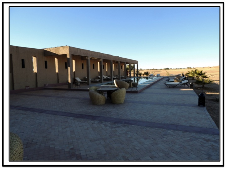The hotel swimming pool at our camel rides point of departure.