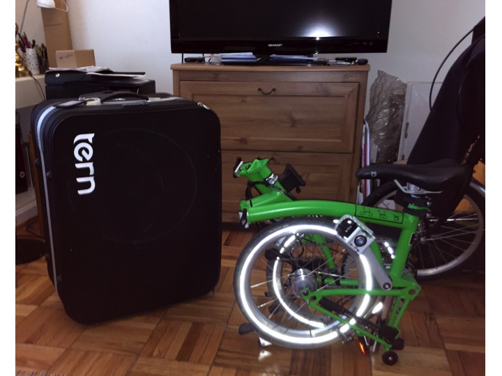 Up Up And Away With My New Brompton Folding Bike For Airline