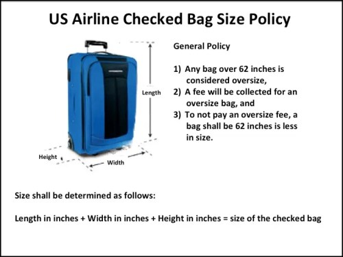 What are the U S Airline checked baggage limits? – Memory Point ...