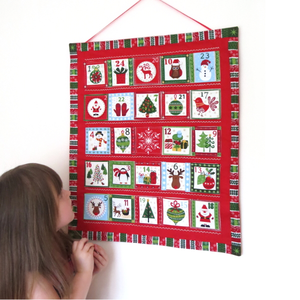 Scandinavian reusable handmade advent calendar