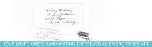 Custom handwriting keepsake gift from your handwriting