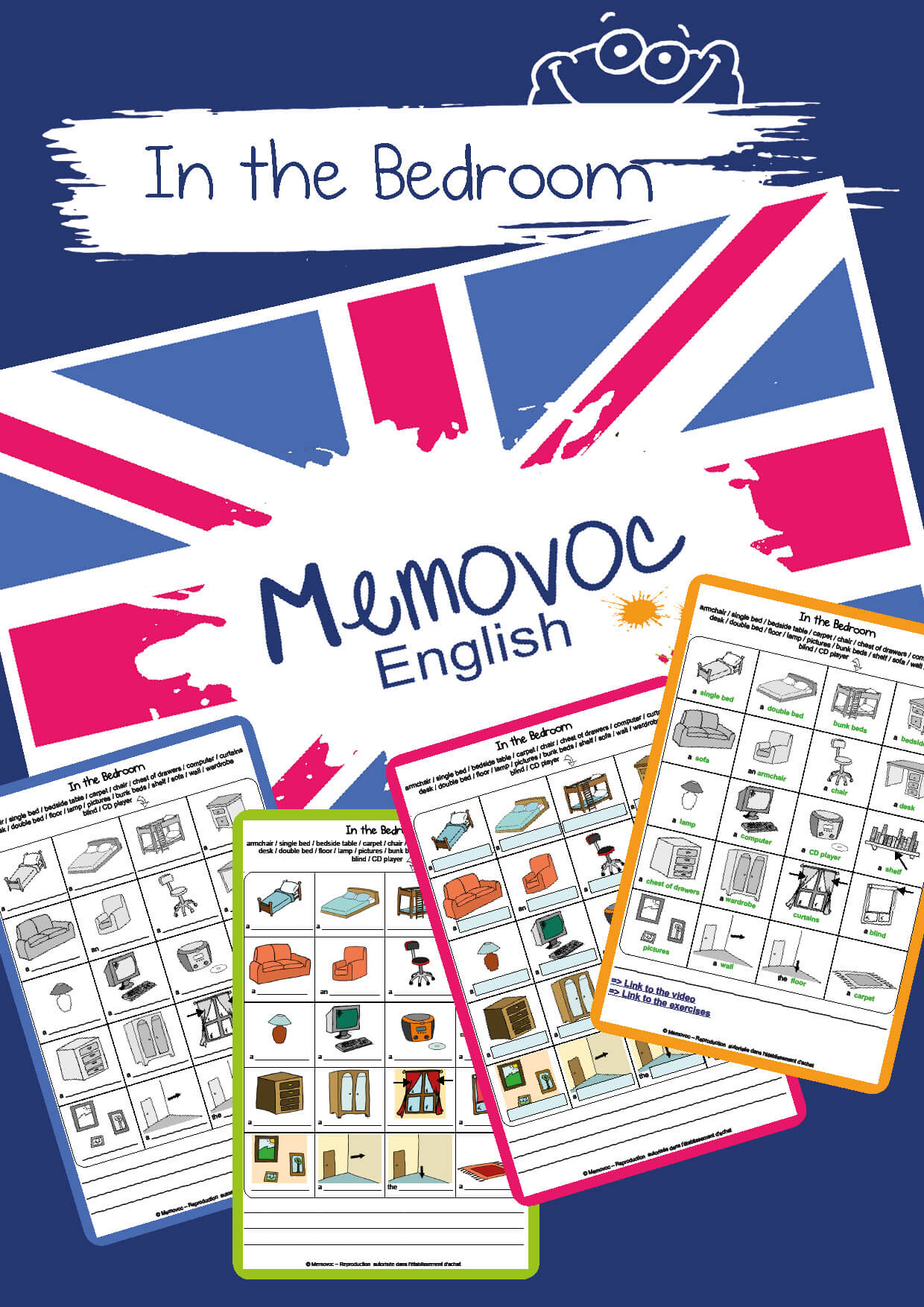 In The Bedroom Vocabulary Worksheets Memovoc