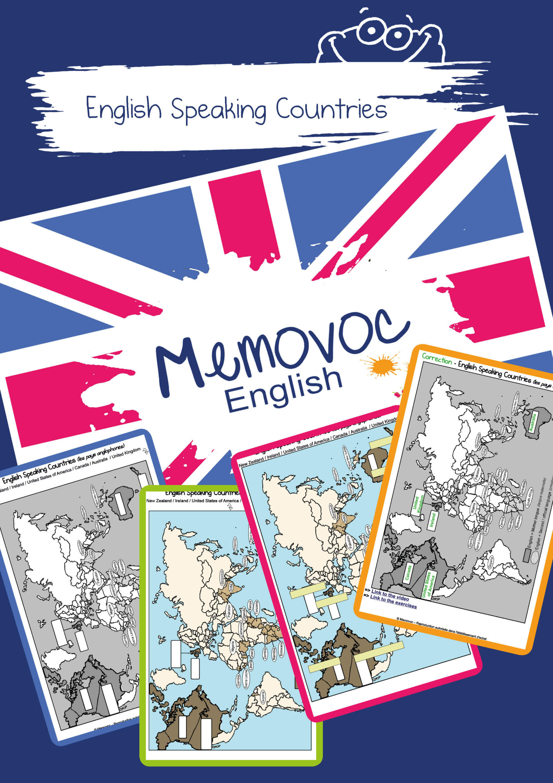 English Speaking Countries Vocabulary Worksheets