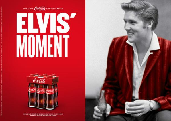 Coca Cola-Werbung mit Elvis 2015 - Foto: Alfred Wertheimer/Getty Images