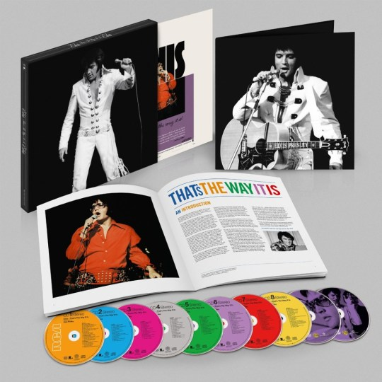 Bestandteile des Deluxe-Boxsets Elvis 'That's The Way It Is' (2014) - 8 CDs und 2 DVDs